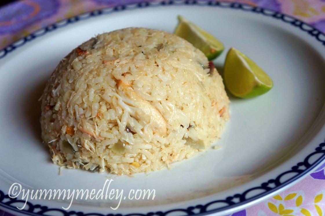 Coconut Crab Rice - Yummy Medley