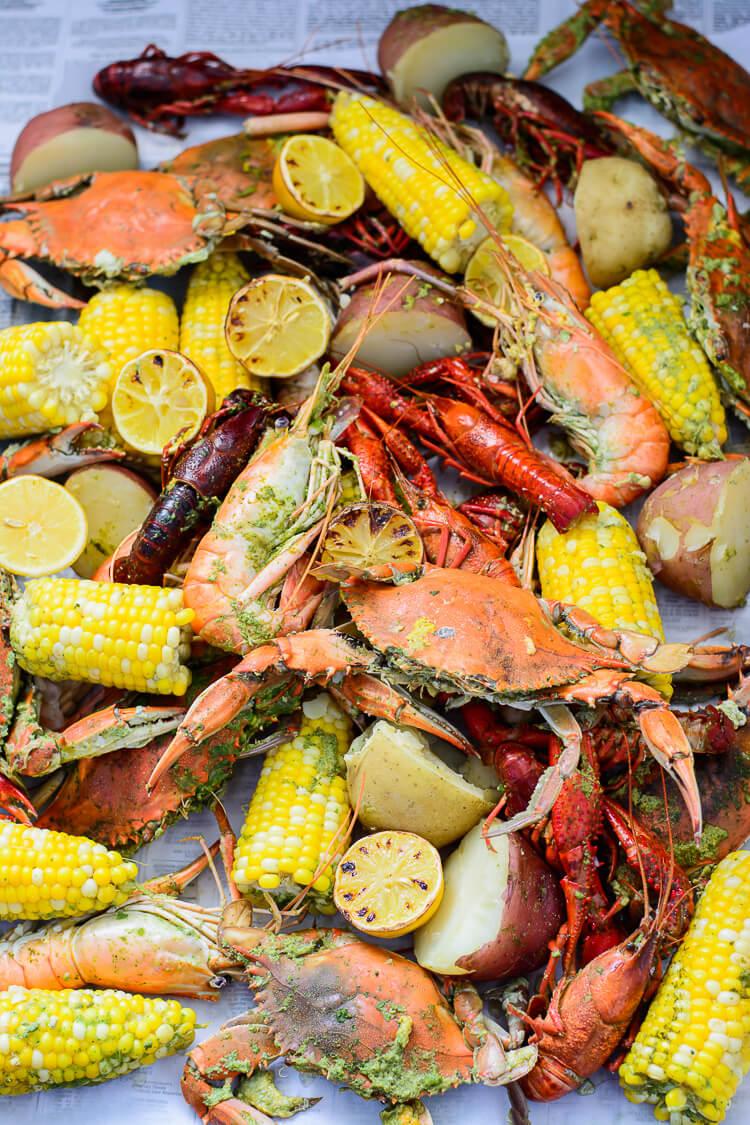 The Best Summer Seafood Boil With Custom Seasoning Yummy Medley