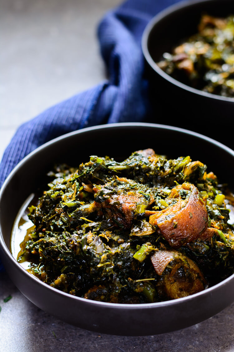 Afang Soup: A Green, Leafy Nigerian Vegetable Soup